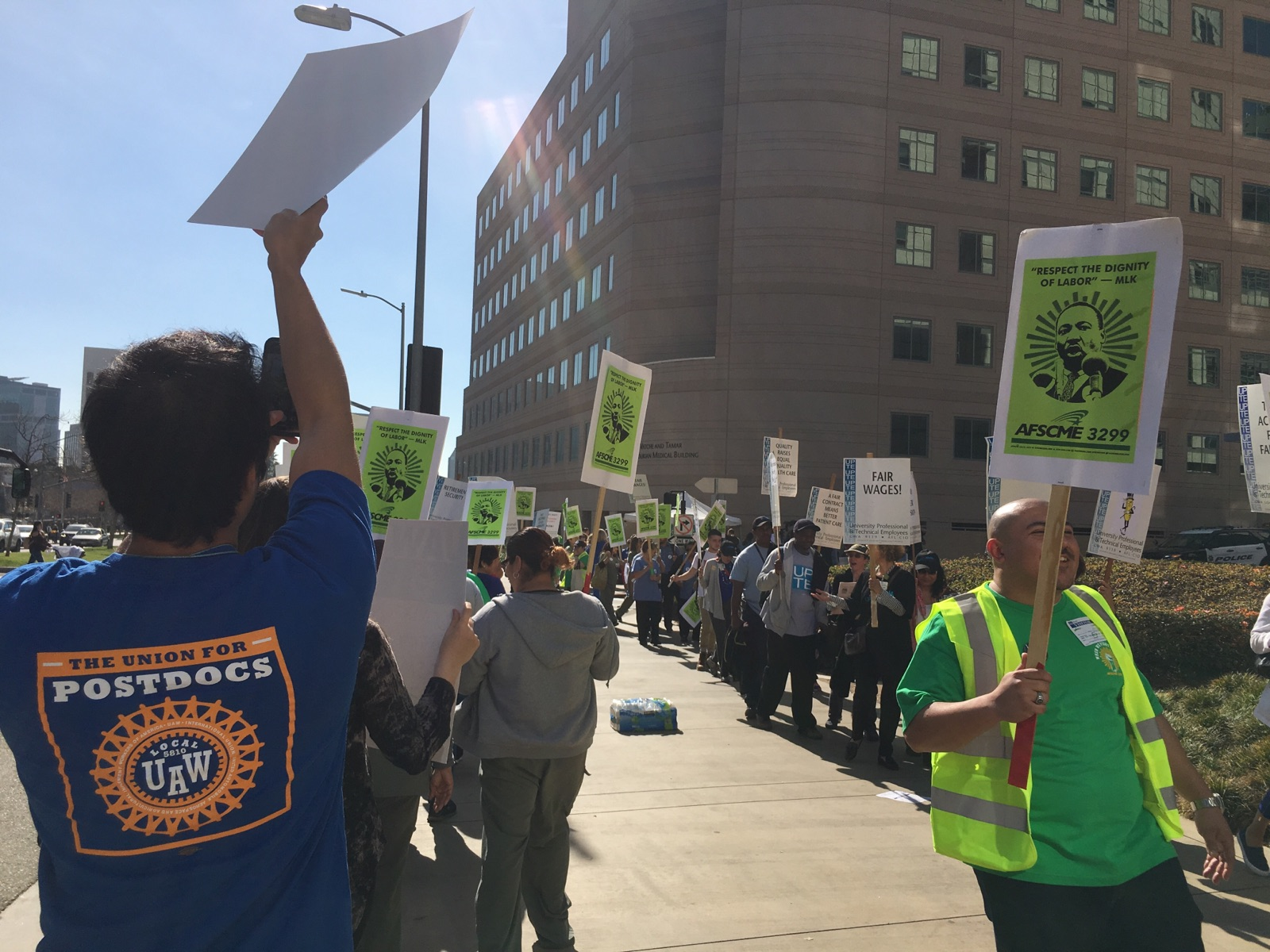 UCLA MedCenter AFSCME Picket 2